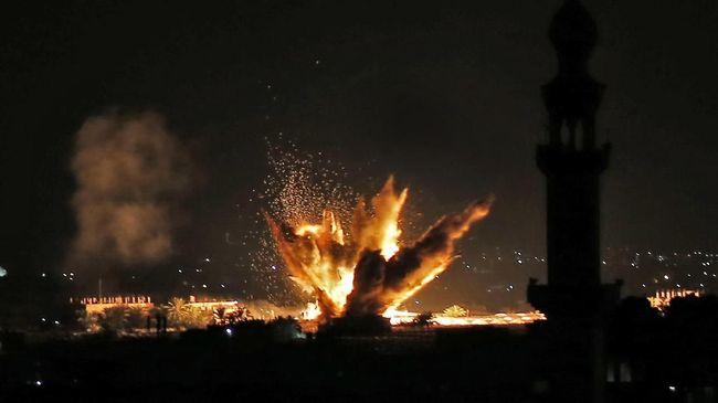 Ilustrasi serangan roket. (Said KHATIB / AFP)