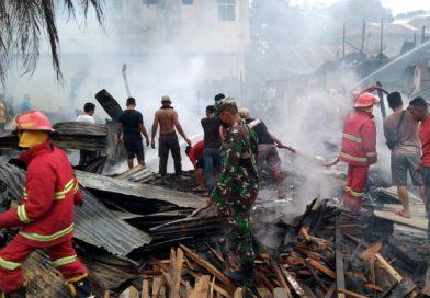 Arus Pendek, Hanguskan Tujuh Rumah di Aceh Tamiang