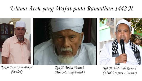 Aceh Kehilangan Tiga Ulama Selama Ramadhan 1442 H, Pertanda Apa?