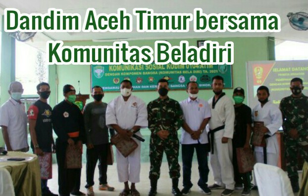 Dandim Aceh Timur ajak Komunitas Beladiri Putus Matarantai Covid-19